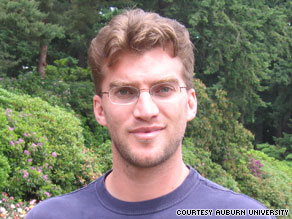 Michael Griffin Harrie, 29, disappeared earlier this month during a vacation in Thailand, Auburn University says.
