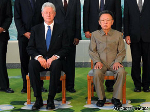 Former President Clinton meets Tuesday with North Korea leader Kim Jong Il.