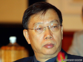 China's Deputy Health Minister Huang Jiefu, file photo, says only 10 people in China donated an organ this year.
