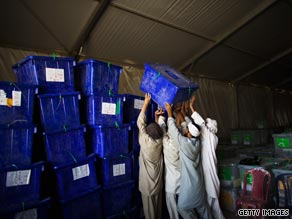 Ballot counting in the Afghan elections is expected to take several weeks.