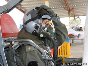 Seven Pakistani women are trained to fly the country's F-7 fighter jets -- though none have seen combat so far.