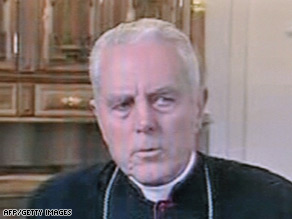 Bishop Richard Williamson, shown in a recent Swiss interview, says he'll recant
