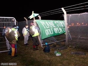 Climate protesters broke into Aberdeen Airport in the early hours of Tuesday to demonstrate against plans for expansion.