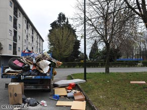 The area of Turin where the family at the center of Italy's incest case lives.