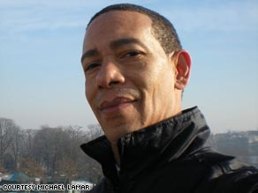Michael Lamar was laid off in January but has a new job as a Barack Obama look-alike.