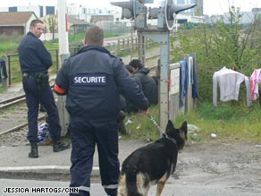 French police conduct frequent checks on the migrants around Calais.