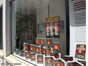 The Church of Scientology's bookshop in Paris is part of the case being heard in France.