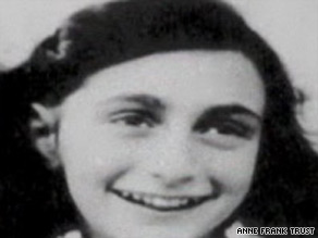 Anne Frank hid with her family in a secret room at her father Otto Frank's office in Amsterdam.