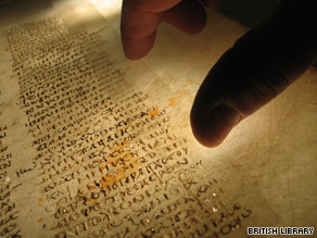 The British government bought most of the pages of the ancient manuscript in 1933.