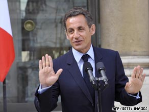 French President Nicolas Sarkozy Wednesday told reporters he was in good health.
