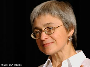 Kremlin-critic Anna Politkovskaya was killed outside her Moscow home in 2006.