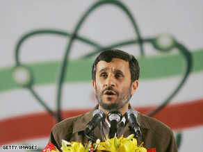 President Mahmoud Ahmadinejad insists Iran's nuclear program is only intended for peaceful purposes.