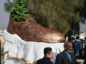 A shoe this size probably would've hit!