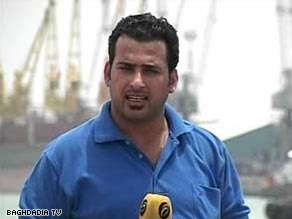 TV reporter Muntadhar al-Zaidi, shown in a file photo, appeared in court to loud applause and cheers.