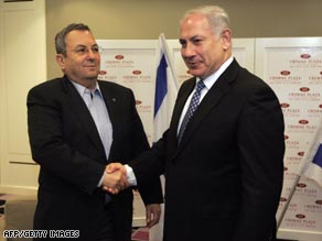 Ehud Barak, left, will remain Israeli defense minister in Benjamin Netanyahu's new government.