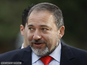 Avigdor Lieberman's remarks come amid concerns about the new Israeli government's view of the peace process.