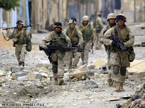 Saturday's raids in Falluja by Iraqi forces were similar to U.S.-led sweeps in the city in 2004, shown here.