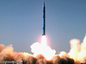 Image purportedly shows the test launch of Iran's new Sajil surface-to-air missile.