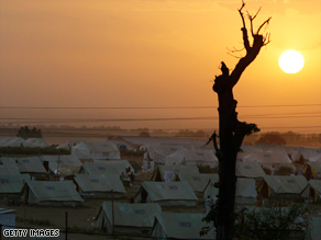 Tens of thousands of Pakistani civilians have been forced into refugee camps because of the fighting.