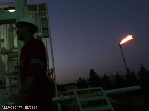 A worker at the oil refinery near the village of Taq Taq in the province of Irbil.