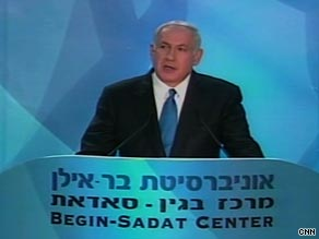Israel PM Benjamin Netanyahu said he would agree to peace with Palestinians.