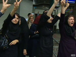 Protests continue Sunday for a second day in Tehran over the results of the presidential election.