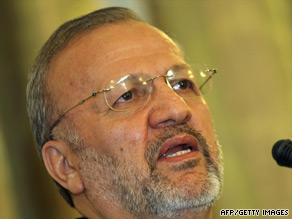 Iranian Foreign minister Manouchehr Mottaki has accused Britain of meddling in its affairs.