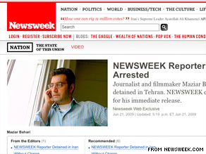 Newsweek says Maziar Bahari has been reporting for years without bias and beyond reproach.