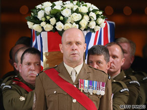 Lt. Col Thorneloe was  one of 15 British troops killed in action in Afghanistan this month.