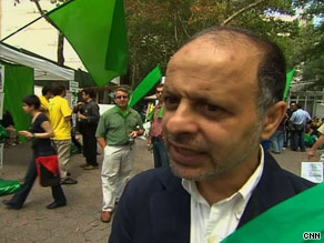 Akbar Ganji went on a three-day hunger strike this week outside the U.N. to protest Iran's crackdown on dissidents.