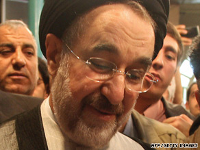 Former Iranian President Mohammad Khatami says the trials of election protesters are damaging.