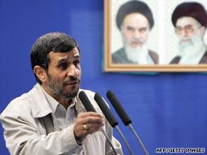 Iranian President Ahmadinejad addresses a Friday prayer sermon at Tehran University on Quds (Jerusalem) Day.