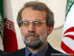 "Iranian parliament Speaker Ali Larijani calls a suicide bombing ""the result of the U.S. actions."""