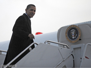 President-elect Obama told reporters he got a little emotion Sunday as he left Chicago to move to Washington.