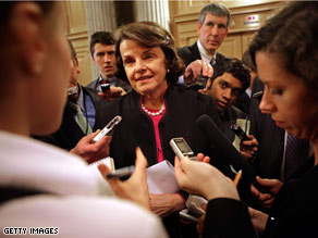 Sen. Feinstein said Wednesday that she will back President-elect Obama's pick to head the CIA.