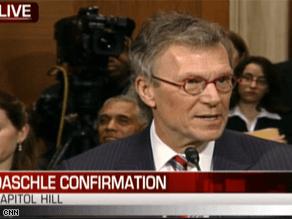 Daschle's confirmation hearing is underway.