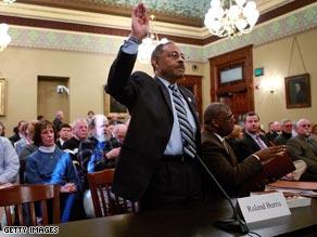 A committee of Illinois legislators heard testimony from Roland Burris Thursday.