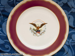 Meals will be served on replicas of china used during the Lincoln presidency.