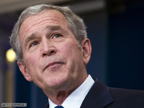 Pres. Bush gave his last official press conference Monday morning.