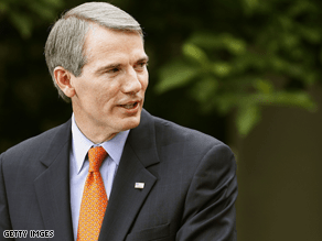 Rob Portman is the Republican frontrunner in the Ohio Senate race.