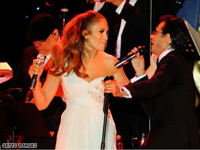 Jennifer Lopez and performed with her husband Marc Anthony Tuesday night at the Western Ball.