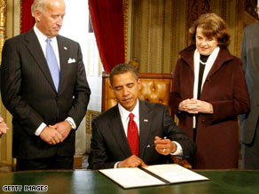 The president signed three documents soon after his swearing in Tuesday.