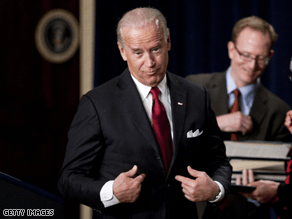 Biden couldn't pass up poking fun at Chief Justice Roberts last week.