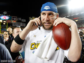 Steelers quarterback Ben Roethlisberger received a call from the president after winning the Super Bowl Sunday night.