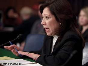 A Senate committee Thursday delayed its confirmation vote for Labor Secretary-designate Hilda Solis.