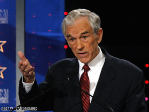 Ron Paul is a Republican congressman from Texas who unsuccessfully sought the GOP nomination for president.