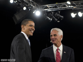 Crist told CNN Wednesday he never endorsed the president's stimulus measure.