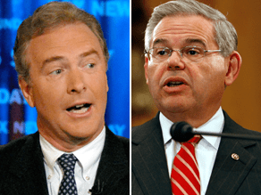 Van Hollen, left, and Menendez head the DCCC and the DSCC respectively.