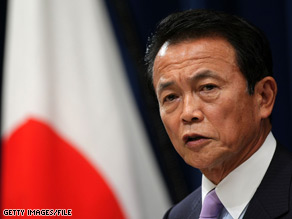 Japanese Prime Minister Taro Aso will meet with President Obama next week in the nation's capital.