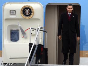 Obama traveled to Canada Thursday.